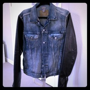 H&M denim and faux leather jacket